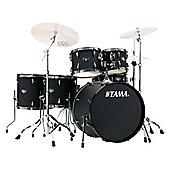 Tama Imperialstar 6 Piece Drum Kit Blacked Out Black im62h6nb-bob