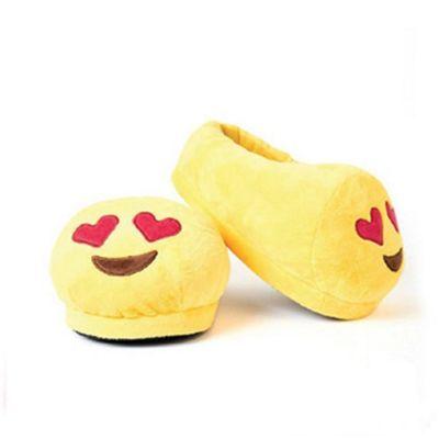 Heart Eyes emoji Foot Cushion Slippers (Medium UK 5 - 8)