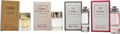 Cartier Miniatures Gift Set 6ml Eau de Cartier Goutte de Rose EDT + 5ml Eau de Cartier EDT + 5ml Cartier Baiser Vole EDP + 6ml Cartier La Panthere EDP