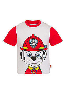 PAW Patrol Boys Kids Character T-Shirt Rocky Chase Rubble - Red