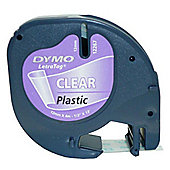 Dymo LetraTAG 12mm (4 Mtr) Black on Clear Tape