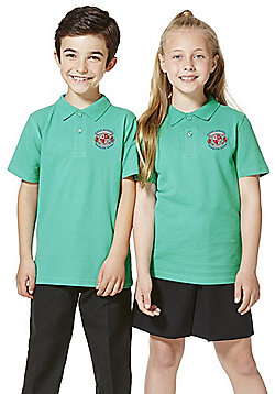 Unisex Embroidered School Polo Shirt - Green