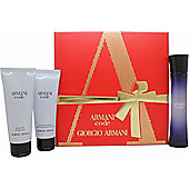 Giorgio Armani Code Pour Femme Gift Set EDP 50ml + 75ml Shower Gel +75ml Body Lotion For Women