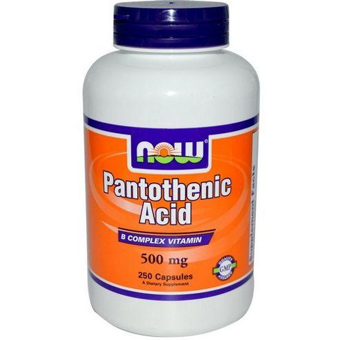 Now Pantothenic Acid 500 mg 100 Capsules