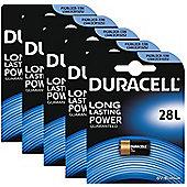 5 x Duracell 28L 6V Lithium Photo Battery PX28L 2CR-1/3N L544 2CR13252 4LR44