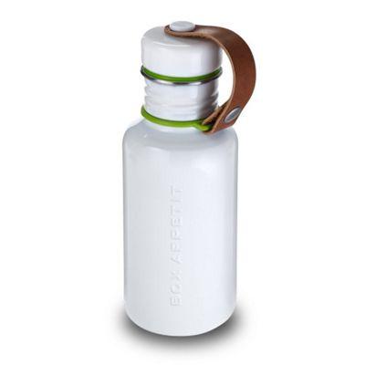 Black + Blum Box Appetit Stainless Steel Water Bottle in White 500ml BAM-WB-S002