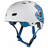 Bullet / Santa Cruz Colab Screaming Hand Graphic Helmet - White - L / XL (58cm - 62cm)