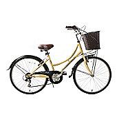 "Classique Heritage 24"" Wheel Girls Bike Basket Dutch Style Cream"