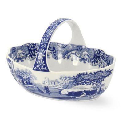 Spode Blue Italian Handled Basket 15cm