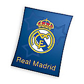 Real Madrid Blue Fleece Blanket