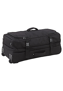 Tesco Prague Black Wheeled Large Holdall