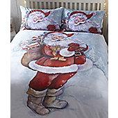 Jolly Santa / Father Christmas King Size Bedding Set