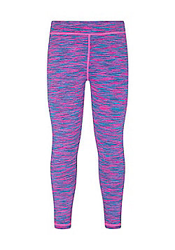 Mountain Warehouse Girls Leggings 92% Polyester and 8% Elastane with Space Dye - Bright pink