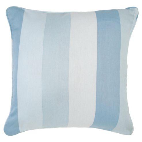 Tesco Cushions Hampton Stripe Cushion, Duck Egg