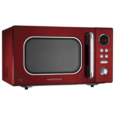 Morphy Richards 511512 Accents 23L Solo Microwave, Red