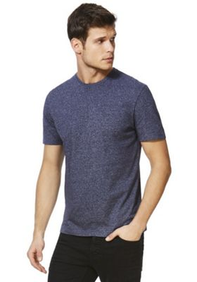 F&F Crew Neck T-shirt With As New Technology Navy 2XL