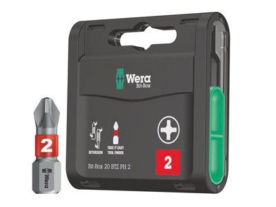 Wera Bit-Box 20 BiTorsion Bits PH2 x 25mm 20 Piece
