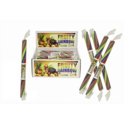 20 Small Flavoured Rock Sticks - Rainbow Flavour
