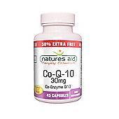 Natures Aid CO-Q-10 30mg Co Enzyme Q10 - 45 Capsules
