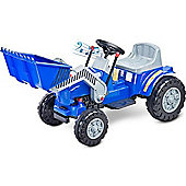 Caretero Bulldozer Battery Operated Ride-On Car (Blue)