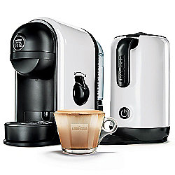 Lavazza Minu White Caffe Latte Coffee Machine With Integrated Milk Frother