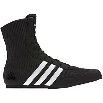 adidas Box Hog Mens Boxing Trainer Shoe Boot Black / White - UK 10.5