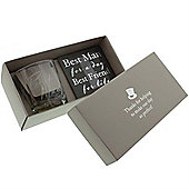 Best Man Whiskey Glass and Coaster Set