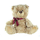 "10"" Soft Plush Teddy Bear Rafaelo with Burgundy Ribbon Valentines Day Gift"
