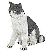 Papo Cats Collection Hand Painted Cat Sitting Down Toy Figure