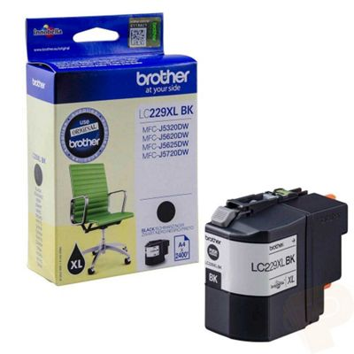 Brother LC229XL High Yield Ink Cartridge (Black) 2400 Page Yield