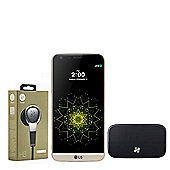 "LG G5 SE H840 Unlocked 5.3"" Smartphone QHD Display Octa Core 3GB 32GB - Gold with B&O H3 Headphone & B&O Hi-Fi Speaker"