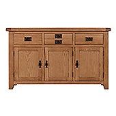 Arklow Oak Sideboard / Large 3 Doors 3 Drawers