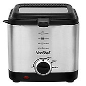 VonShef 1.5L Stainless Steel Deep Fat Fryer