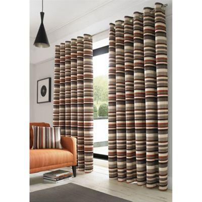 Alan Symonds Lined Richmond Orange Eyelet Curtains - 66x54 Inches (168x137cm)