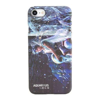 iPhone 7 Aquarius Star Sign Glow In the Dark Slim Protective Phone Case - Multi