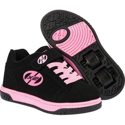 Heelys X2 Dual Up - Black/Pink - Size - Junior UK 11