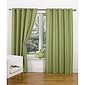 Hamilton McBride Canvas Unlined Ring Top Curtains - Green