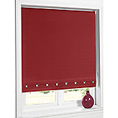 Hamilton Mcbride Aurora Square Eyelet Red Blind - 60x165cm