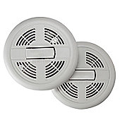 Home Battery Smoke Alarms Fire Detector - Twin Pack