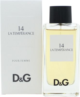 Dolce & Gabbana D&G 14 La Temperance Eau de Toilette (EDT) 100ml Spray For Women