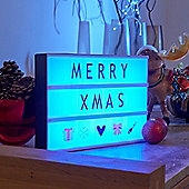 Auraglow Remote Control Colour Changing A4 Cinematic LED Light Box with Letters & Emoji Symbols