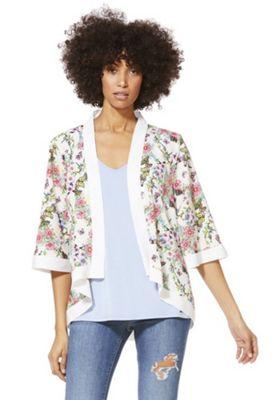 Mela London Garden Print Kimono White M
