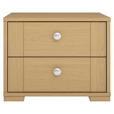 Adria Oak 2 Drawer Chest With Oak Shaker Drawers