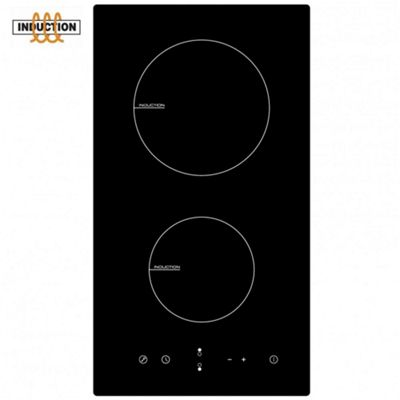 Cookology 30cm Domino Ceramic Induction Hob | CIT300 300mm Black Glass Built-in Electric Cooktop with Touch Controls