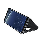 Samsung S8 Plus Clear View Stand Cover Silver
