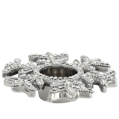 Buy Glitz Nickel Snowflake Tealight Holder From Our Candle