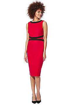F&F Sleeveless Pencil Dress - Red