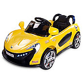 Caretero Aero Battery Operated Ride-On Car (Yellow)