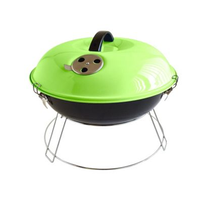 Bar-Be-Quick 35cm Portable Charcoal Barbecue, Green