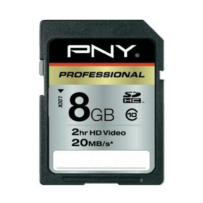 PNY 8GB SDHC Class 10 Flash Memory Card